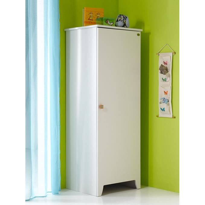 armoire b b 1 porte calypso blanc achat vente armoire. Black Bedroom Furniture Sets. Home Design Ideas
