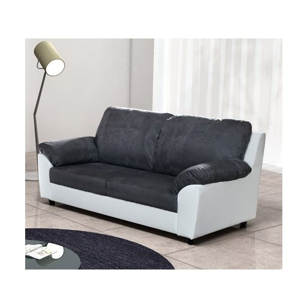 canap moderne 3 places julia achat vente canap sofa divan cdiscount. Black Bedroom Furniture Sets. Home Design Ideas