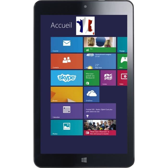 8 pouces tablette windows 8 1 tactile pc intel z3735f 16gb hd ips wifi achat vente tablette. Black Bedroom Furniture Sets. Home Design Ideas