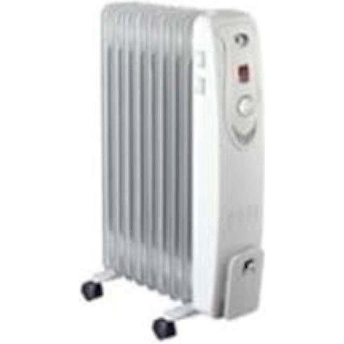 New Blanc 7 Ailette 1500 W électrique bain d/'huile Portable Radiateur Réglable Radiateur
