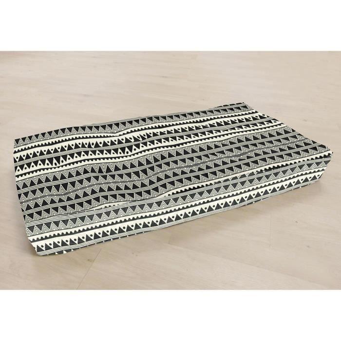 COUSSIN - MATELAS DE SOL Matelas de sol 100% coton imprimé DJERBA 120x60x15