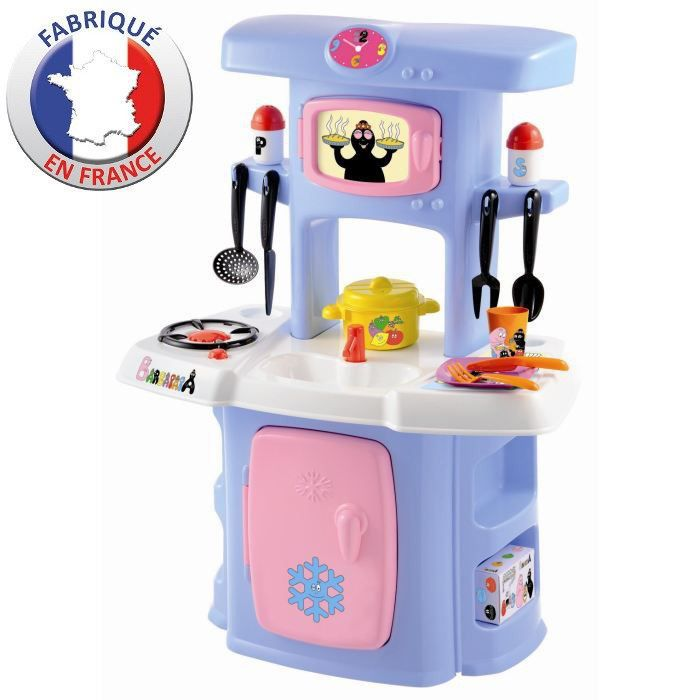 cuisine enfant barbapapa achat vente dinette cuisine cdiscount. Black Bedroom Furniture Sets. Home Design Ideas