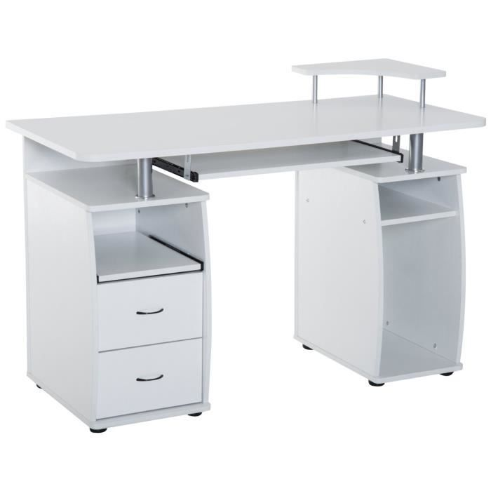 Bureau pour ordinateur table meuble pc informatique for Meuble informatique