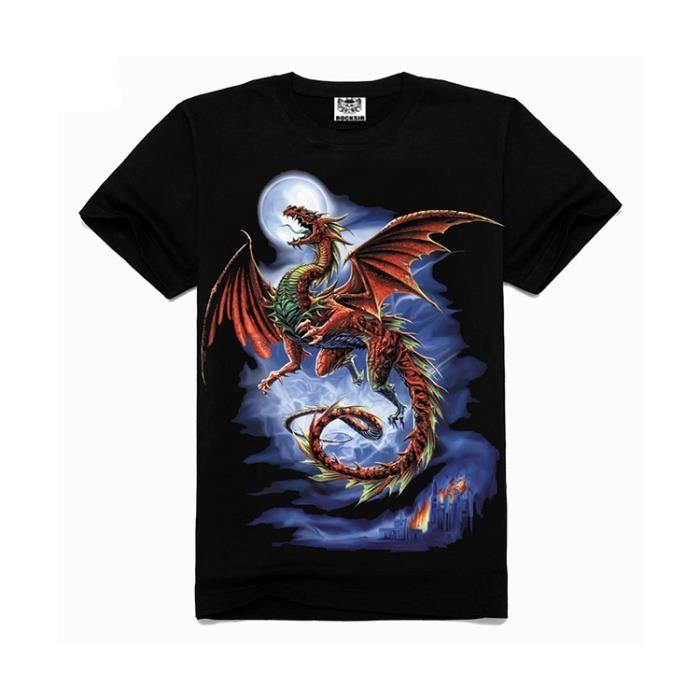 tee shirt homme dragon achat vente tee shirt homme dragon pas cher cdiscount. Black Bedroom Furniture Sets. Home Design Ideas