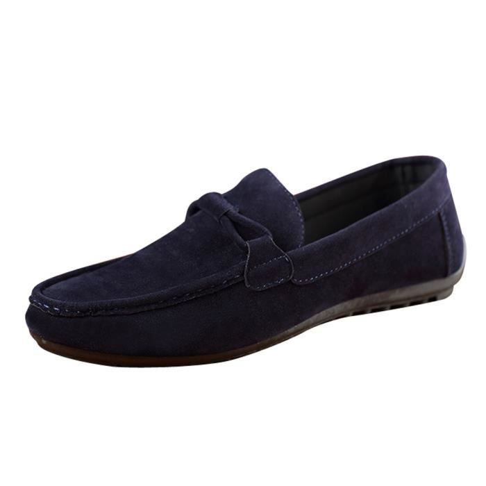 MOCASSIN Suede Mode Bonnet Chaussures Lazy Chaussures Homme