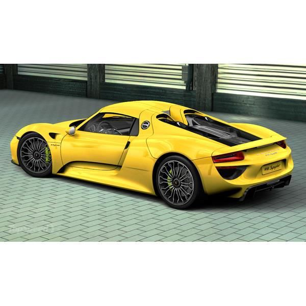voiture t l command e porsche 918 spyder jaune 1 14 achat vente voiture. Black Bedroom Furniture Sets. Home Design Ideas