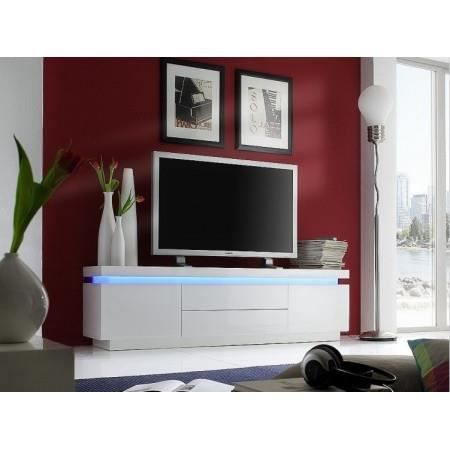 meuble tv led blanc laqu cameleon achat vente meuble tv meuble tv led blanc laqu. Black Bedroom Furniture Sets. Home Design Ideas