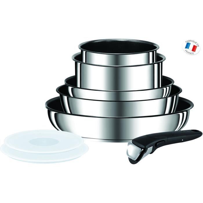 Tefal Ingenio Preference Batterie De Cuisine 8 Pieces Inox Tous
