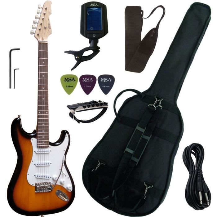 pack guitare electrique pas cher achat vente cdiscount. Black Bedroom Furniture Sets. Home Design Ideas