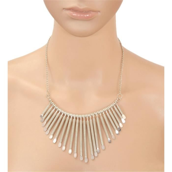 Womens Fashion Trendy Metalic Choker Necklace For AndQ58Y9