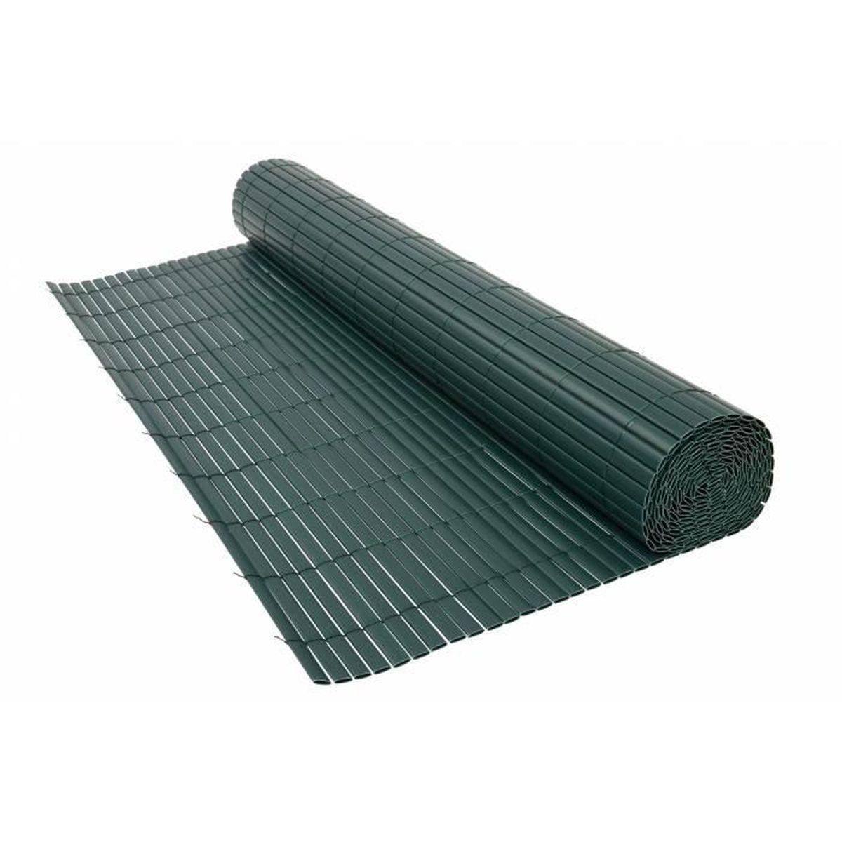 CLÔTURE - GRILLAGE Canisse PVC double 1600 g/m² vert Vert 1 x 3 mètre
