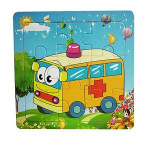 PUZZLE Puzzle 1pc en bois ambulance puzzle éducatif bébé