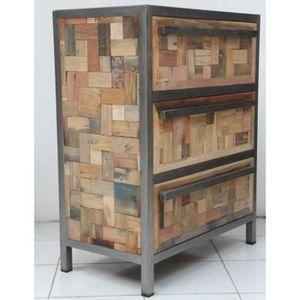 COMMODE DE CHAMBRE Petite commode mozaic 3 tiroirs