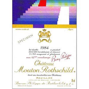 VIN ROUGE Château Mouton Rothschild - Pauillac 1984 1er Cru