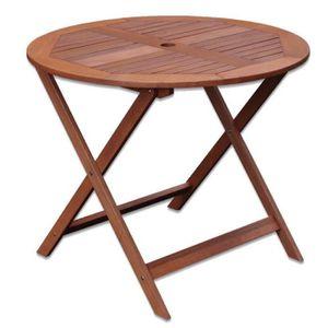 Table de jardin en bois exotique