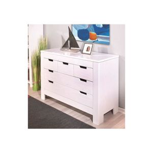 commode haute blanche achat vente commode haute blanche pas cher cdiscount. Black Bedroom Furniture Sets. Home Design Ideas