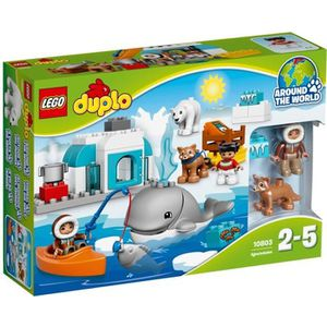 ASSEMBLAGE CONSTRUCTION LEGO® DUPLO® Ville 10803 Les Animaux de L'Arctique