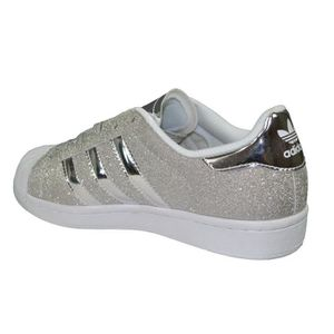 de562b02a66 Adidas Originals - Baskets - Superstar Paillettes - Argent Blanc ...