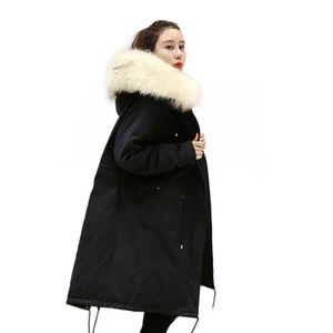 DOUDOUNE doudoune longue femme noir col en fourrure de epai