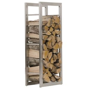 TIROIR COULISSANT Support Bois de chauffage en acier inoxydable  - 1
