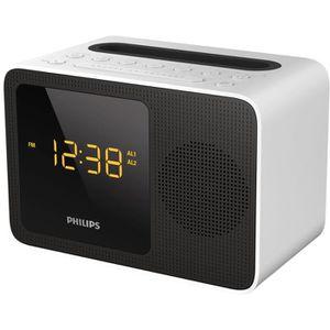 Radio réveil PHILIPS AJT5300W/12 Radio réveil Bluetooth avec ch