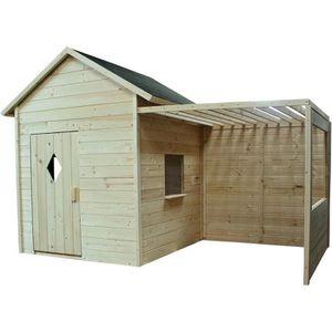 MAISONNETTE EXTÉRIEURE SOULET Cabane de jardin en bois Igor pour enfant