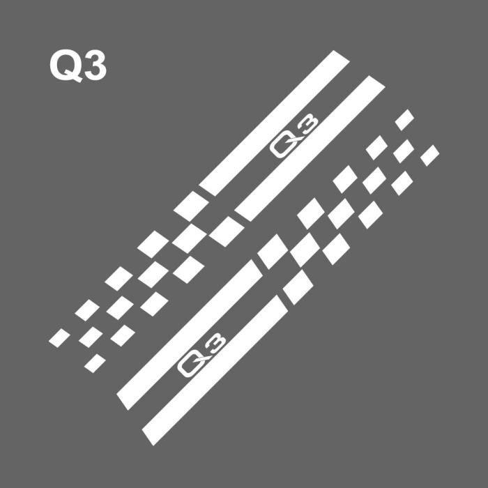 Autocollant de voiture pour Audi A4 B5 B6 B7 B8 A3 8P 8V 8L A5 A6 C6 C5 C7 A1 A7 A8 Q2 Q3 Q5 Q7 TT RS5 B pilier [25F7C3D]