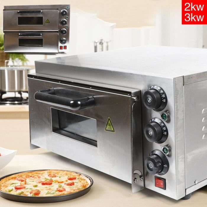 3kW Four à pizza double couche 350°C