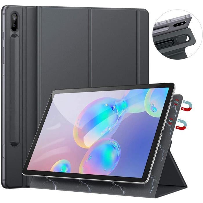 Coque pour Samsung Galaxy Tab S6 2019, Coque Magnétique Puissante Fine et Léger, Supporte La Fonction Auto Réveil/Sommeil ave18606