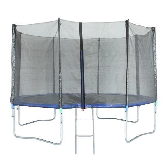 Trampoline 366 cm Noir TRIGANO Échelle et filet de protection inclus