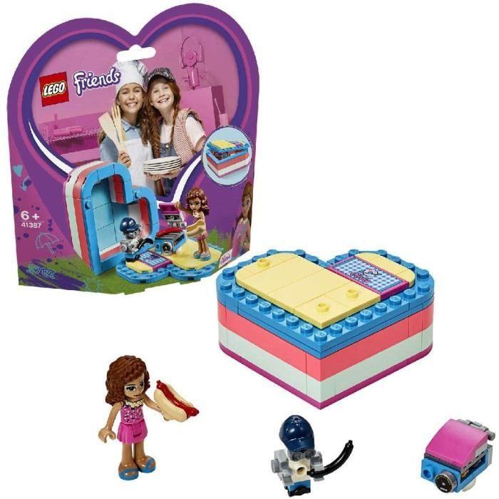 Jeux de construction LEGO®-Friends La boîte cœur d'été d'Olivia Jouet pour Fille et Garçon à Partir de 6 Ans et Plus, 93 52566