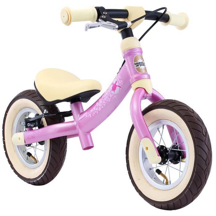 BIKESTAR - Draisienne - 10 pouces - pour enfants de 2-3 ans - Edition Sport 2-en-1 - garçons et filles - Rose