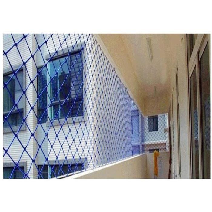 LSLS Filet securite escalier Clôture, Barrière Animal Enfants Bleu, Barrière De Fenêtre Balcon Escalier Barriere de securité (S A341