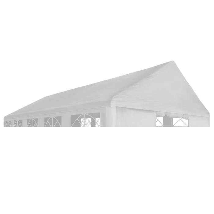 Toit de tente de réception - Tonnelle Barnum 5 x 10 m Blanc