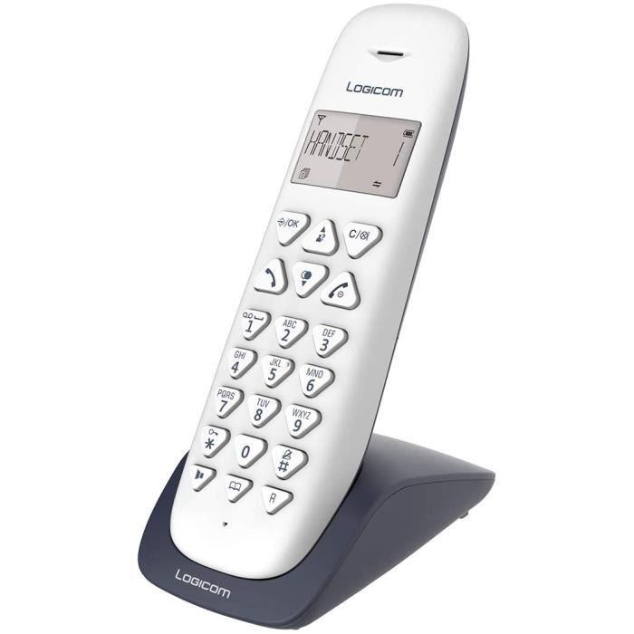 Telephone fixe sans fil - Téléphone fixe sans fil sans Répondeur - Solo - Téléphones analogiques et dect - Logicom VEGA 150 Téléphon