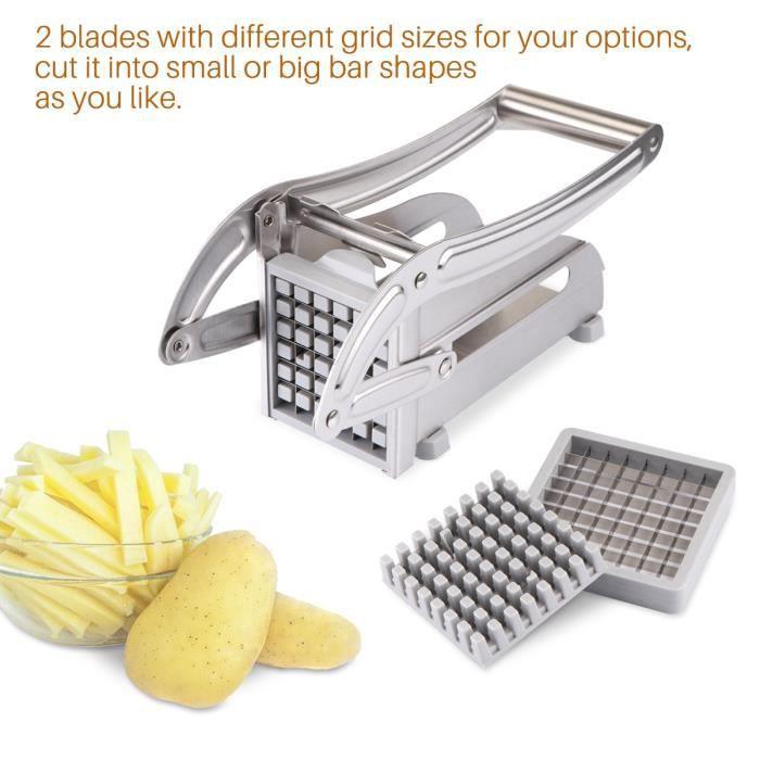 Couteau à trancher,Machine de découpe coupe frites meilleure valeur acier inoxydable n'utilise pas maison trancheuse de pommes de #B