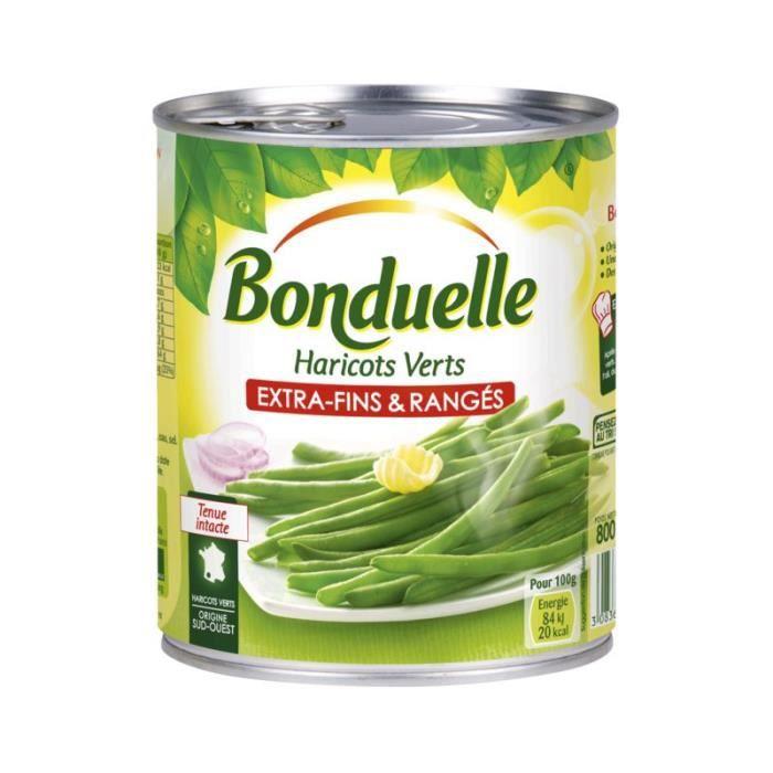 BONDUELLE Haricots verts - Extra Fins & Rangés - 440 g