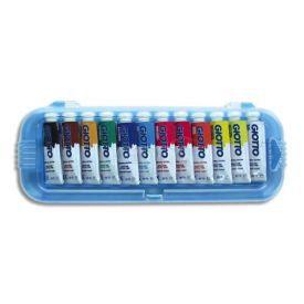 Boite de 12 tubes 10ml de gouache - couleur ass…
