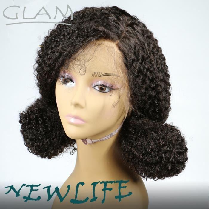 150% humain naturel péruvien vierge à haute densité perruque kinky curly lace front wigs 22 pouces