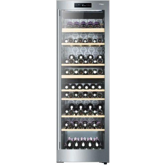 Haier WS137GDAI, Autonome, Acier inoxydable, Gris, 8 étagères, 1 portes(s), Acier inoxydable