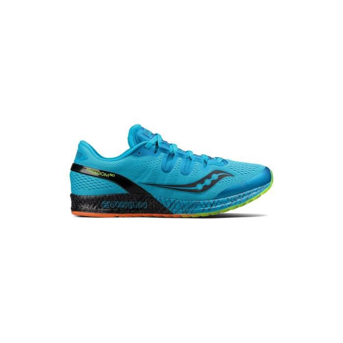 Freedom ISO  - Chaussures running homme Blue / Black / Citron 48