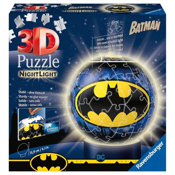 Puzzle 3D Ball 72 p illuminé - Batman
