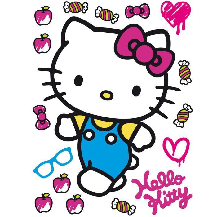 Stickers géant Hello Kitty Bonbon Sanrio