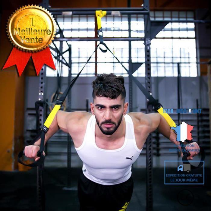 Sangle sport musculation étirable élastique fitness 145-200CM réglable entraînement intérieur extérieur supporte 181,4KG fonctions