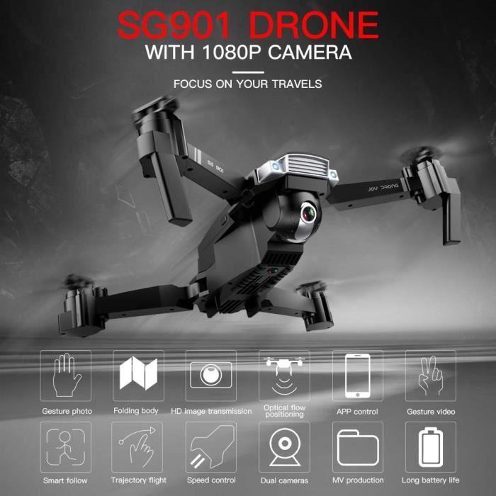 SALON DE JARDIN  SG901 Drone avec caméra 1080P Drone Optique Débit