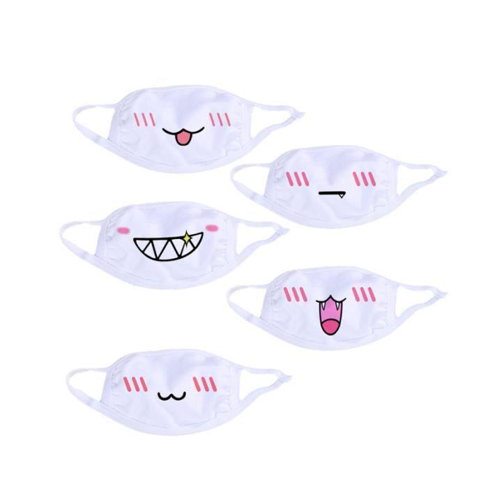 masque de bouche anime anti poussiere