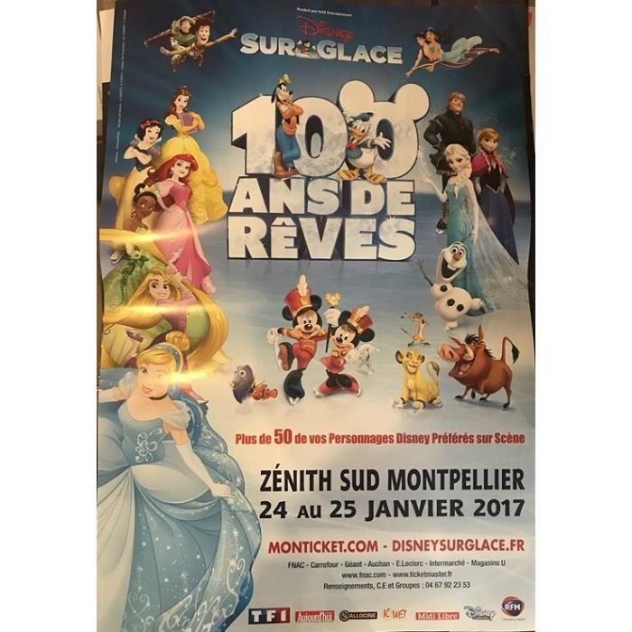 Disney Sur Glace Princesses Et Personnages 2017 80x120cm Affiche Poster Envoi Roulé