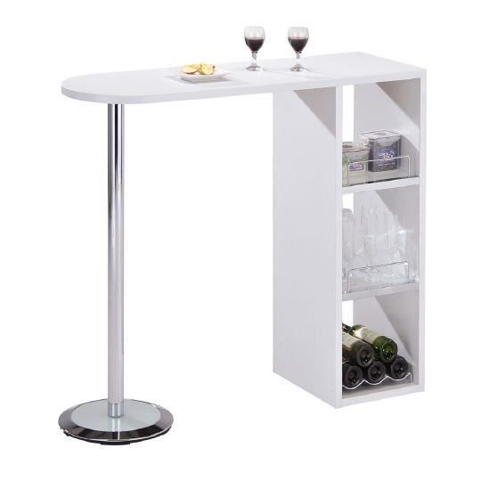 Table de bar camden blanche achat vente mange debout for Table bar blanche