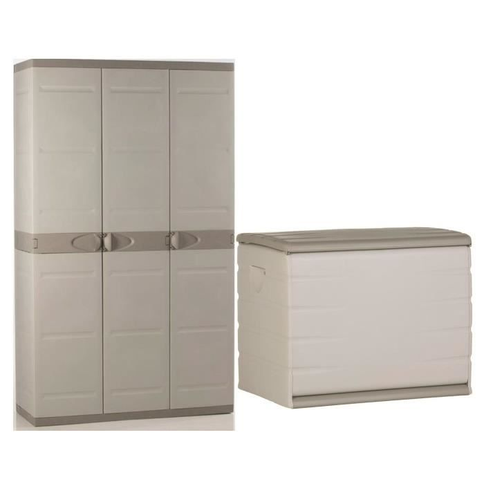 plastiken coffre en r sine 260l vide et armoire de. Black Bedroom Furniture Sets. Home Design Ideas