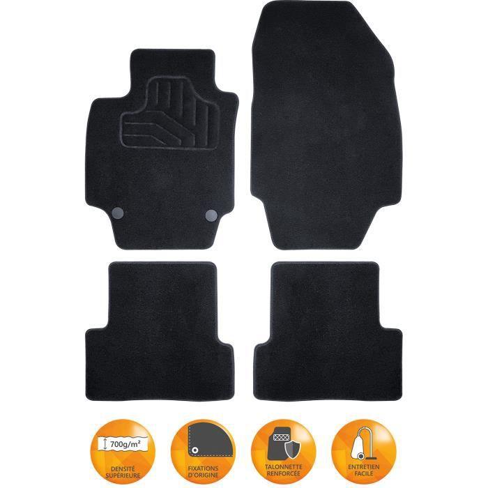 T profil 4-pi/èces + clips de montage Set tapis de caoutchouc compatible avec Opel Corsa E 5 portes 2014-2019